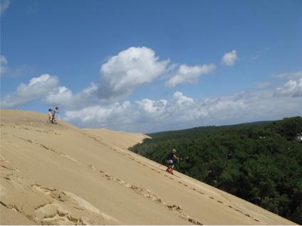 Telemarkeando en Dune de Pilat
